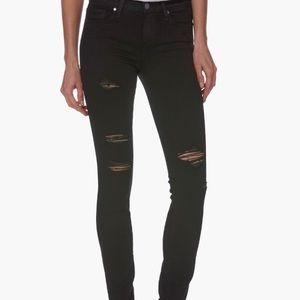 Black knee rip jeans